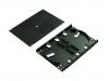 BKT fiber optic splice cassette+cover+2x holder for 12 thermoshrinkable splice protectors (BLACK)