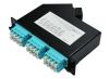 Cassette LGX BKT MPO male - 6 x LC quad OM4 RAL9005, type A low loss