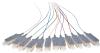 Pigtail BKT SC/PC OM1 easy strip 12 color set 2m