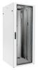 BKT cabinet QUICK RACK 42U, 780/780/1980 (W/D/H mm) metal/glass door, RAL 7035 (ReadyTo Assemble)