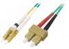 Patchcord BKT LC/PC-SC/PC OM3 (50/125 um) duplex 1m