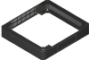 BKT plinth/base 100 mm for cabinet width 600 and depth 600 mm RAL 7035 (for QUICK RACK cabinets)