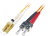 Patchcord BKT LC/PC-ST/PC OM1 (62,5/125um) duplex 2m