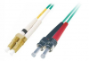 Patchcord BKT LC/PC-ST/PC OM4 (50/125 um) duplex 1m