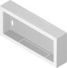 """Back metal panel for cabinet """"standard"""" 4U"""
