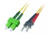 Patchcord BKT SC/APC-ST/UPC OS2 (9/125um) duplex 1m