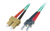 Patchcord BKT SC/PC-ST/PC OM4 (50/125 um) duplex 2m