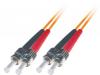 Patchcord BKT ST/PC-ST/PC OM1 (62,5/125um) duplex 2m