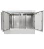 "19"" BKT outdoor cabinet MFG type 18, 2000/500/1500 (W/D/H mm) RAL 7038 IP55 (triple chamber, triple leaf door)"