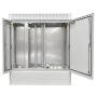 """19"""" BKT outdoor cabinet MFG type 12, 1300/500/1500 (W/D/H mm) RAL 7038 IP55 (double chamber, double leaf door)"""