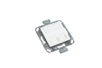 Central plate with metal support BKT NL 2xMMC 4P or 2xRJ45 (50/50)