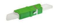 Adaptor BKT E2000/APC SM simplex R&M plastic GREEN