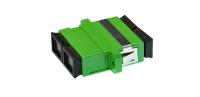 Adaptor BKT SC APC SM duplex plastic green