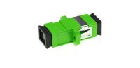 Adaptor BKT SC APC SM simplex plastic green