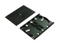 BKT fiber optic splice cassette+cover+2x holder for 6 thermoshrinkable splice protectors (BLACK)