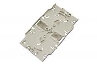 BKT fiber optic splice cassette+cover+2x holder for 6 thermoshrinkable splice protectors (WHITE)