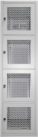 """BKT collocation cabinet 19"""" 4X11U 44U 600/1000/2100 (W/D/H mm) front and back door identical four leaf perforated RAL 7035"""