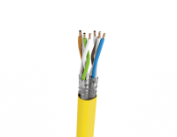 Cable S/FTP LSHF cat.7A wire mellon-yellow UC1500HS 22 Draka (1000m)