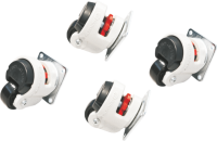 Casters for BKT 4DC cabinets - with a floorleveller foot (load capacity - 1000 kg)