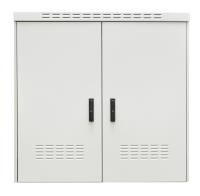 """BKT 19"""" outdoor cabinet 22U 1200/450 IP55 RAL7035 (aluminium, double wall, double chamber, double door)"""
