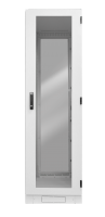 "BKT industrial cabinet IP54 19"" 32U 600/600/1640 (W/D/H mm) RAL 7035 (front and back door identical single leaf metal/glass) aluminum profile without one wall"