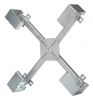 Frame for spare length of fiber optic cable box (3-way regulated arm height)