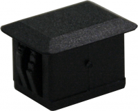 Blind for SC Simplex BLACK plastic, rectangle