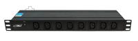 """BKT DUAL Power distribution unit 19"""""""" 1U, 16xIEC 320 C13, front 8xIEC 320 C13, back 8xIEC 320 C13, LED control, IEC320 C20 16A/250V power plug (built-in), no power cable included"""