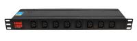 "BKT DUAL Power distribution unit 19"""" 1U, front 8xIEC 320 C13, back 6xIEC 320 C19, amperometer/voltometer, automatic fuse 16A, IEC320 C20 16A/250V power plug (built-in), no power cable included"