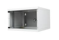 "BKT wall hanging cabinet double section ""STANDARD"" 9U, 600/500/465 (W/D/H mm), RAL 7035 (welded construction-capacity 50 kg)"