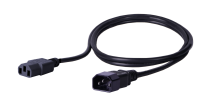 BKT power cable - socket IEC 320 C13 10A, plug IEC 320 C14 10A, 3 x 1,0 mm2 BLACK 2m