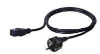 BKT power cable - socket IEC 320 C19 16A, plug DIN 49441 (unischuko) 16A, 3 x 1,5 mm2 BLACK 3m