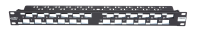 BKT patch panel 19'', modular 24xRJ45, shielded, 1U, black, angled ports