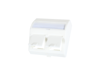Angled adaptor BKT 2xRJ45 for frame with cover 11330210