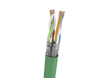 Cable S/FTP LSHF-FR KAT 7A BKT.NL 1500 TV/SAT MULTIMEDIA wire green turquoise 22AWG+2X0,7 (500m)