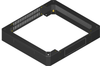 BKT plinth/base 100 mm for cabinet width 780 and depth 780 mm RAL 7035 (for QUICK RACK cabinets)