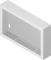 """Back metal panel for cabinet """"standard"""" 6U"""