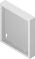 """Back metal panel for cabinet """"standard""""12U"""