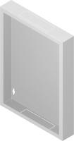 """Back metal panel for cabinet """"standard"""" 15U"""
