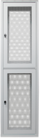 """BKT collocation cabinet 19"""" 2X23U 46U 600/1000/2100 (W/D/H mm) front and back door identical double leaf perforated RAL 7035"""