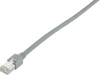 Patchcord BKT F/UTP cat.5 PVC GREY RJ45 molded plug 0,5m