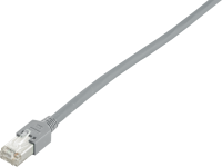 Patchcord BKT F/UTP cat.5 PVC GREY RJ45 molded plug 10m