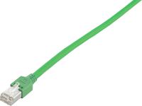 Patchcord BKT F/UTP cat.5 PVC GREEN RJ45 molded plug 1m
