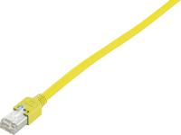 Patchcord BKT F/UTP cat.5 PVC YELLOW RJ45 molded plug 1m
