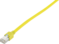 Patchcord BKT F/UTP cat.5 PVC YELLOW RJ45 molded plug 2m