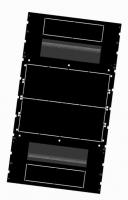 BKT cabinet base 4DC 600x1000 mm RAL 9005