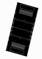 BKT cabinet base 4DC 600x1200 mm RAL 9005