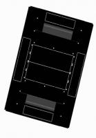 BKT cabinet base 4DC 800x1200 mm RAL 9005