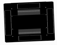 BKT cabinet base 4DC 800x800 mm RAL 9005