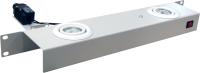 BKT lighting panel 1U with 2 spot ligths 20 Watt RAL 7035 GREY